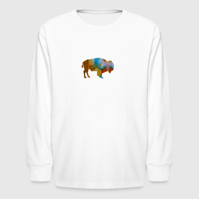 Bison - Kids' Long Sleeve T-Shirt
