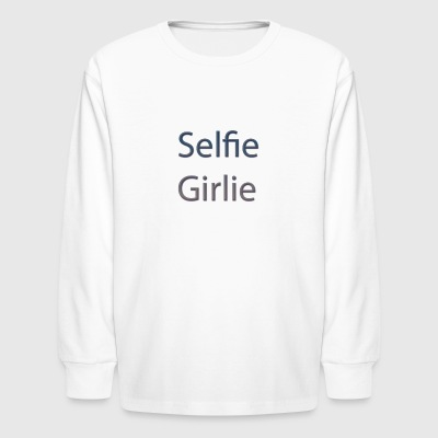 selfie-girlie - Kids' Long Sleeve T-Shirt