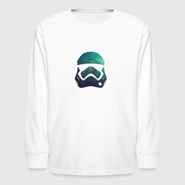 Storm trooper helmet nebula - Kids' Long Sleeve T-Shirt