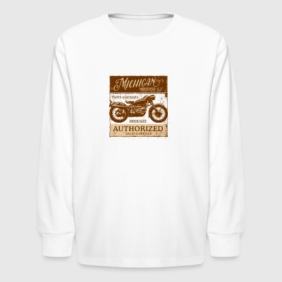 Michigan Motorcycle Sales & Service - Kids' Long Sleeve T-Shirt