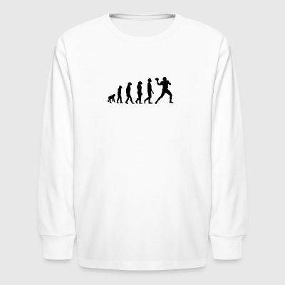 Football Evolution Quarterback - Kids' Long Sleeve T-Shirt