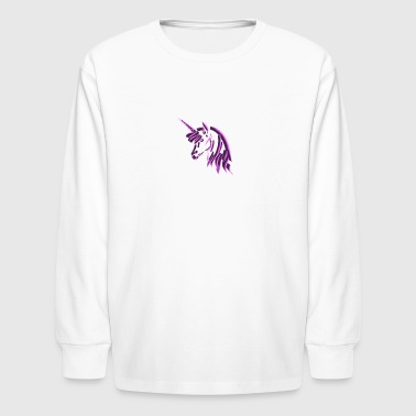 3d pink unicorn - Kids' Long Sleeve T-Shirt