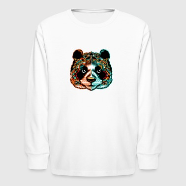 Panda Pandamonium Art - Kids' Long Sleeve T-Shirt