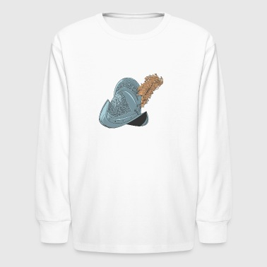 middle_age_helmet - Kids' Long Sleeve T-Shirt