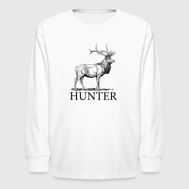Elk Hunter - Kids' Long Sleeve T-Shirt