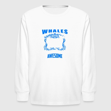 Killer Whale Tee Shirt - Kids' Long Sleeve T-Shirt