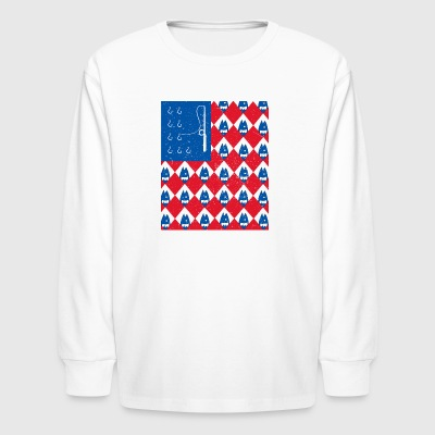 Fishing Flag - Kids' Long Sleeve T-Shirt