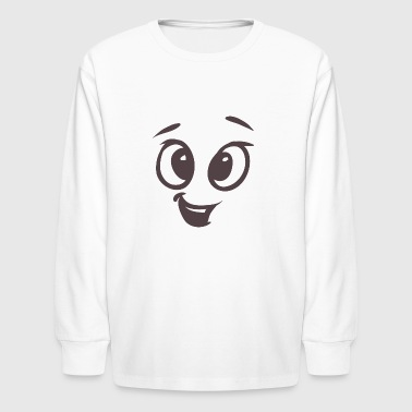 Funny talking face - Kids' Long Sleeve T-Shirt