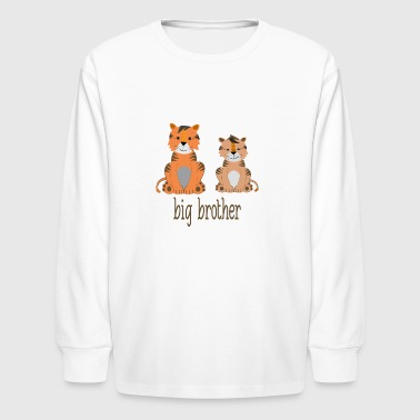 tigers - big brother - Kids' Long Sleeve T-Shirt
