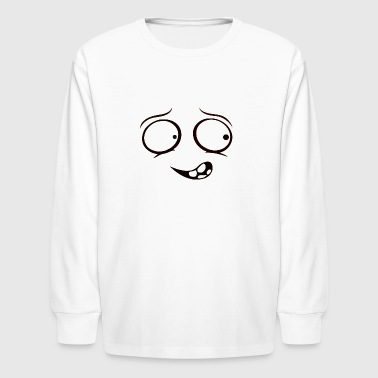 CRAZY PERSON NERVOUS FUNNY SMILE - Kids' Long Sleeve T-Shirt