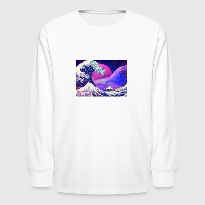 Aesthetic Vaporwave - Kids' Long Sleeve T-Shirt
