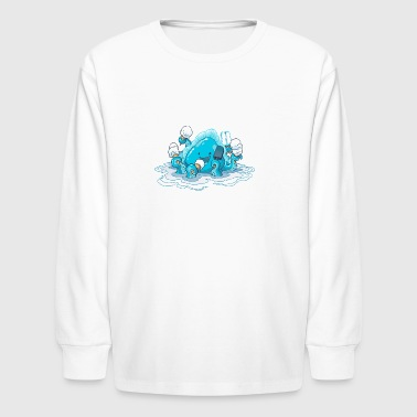 Ice Cream Kraken - Kids' Long Sleeve T-Shirt