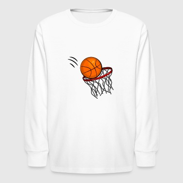 Basketball Swish - Kids' Long Sleeve T-Shirt