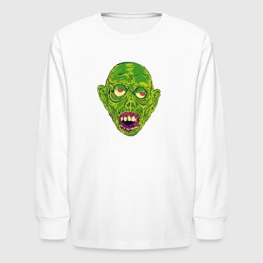 Graveyard Ghoul Slime Green - Kids' Long Sleeve T-Shirt