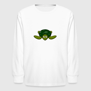 Funny Turtle Comic - Kids' Long Sleeve T-Shirt