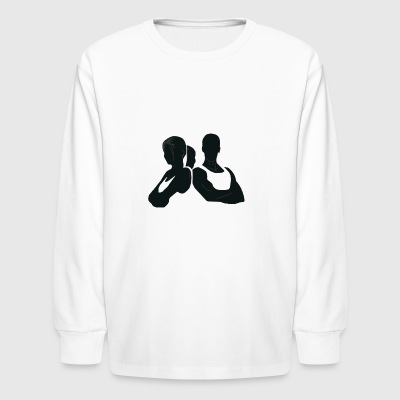 COUPLE FITNESS - Kids' Long Sleeve T-Shirt