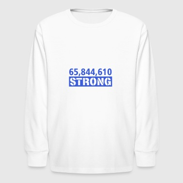 Anti Trump design - Kids' Long Sleeve T-Shirt