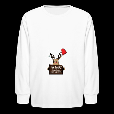 Christmas 2017 Sorry For What I Did When I Was Hun - Kids' Long Sleeve T-Shirt