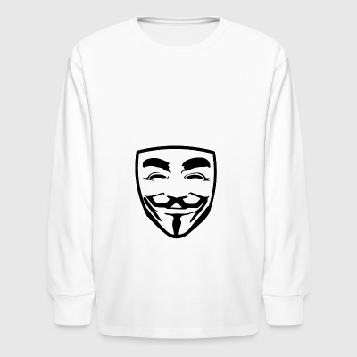 anonymous guy fawkes - Kids' Long Sleeve T-Shirt