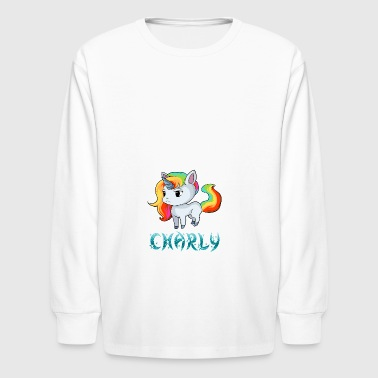 Charly Unicorn - Kids' Long Sleeve T-Shirt