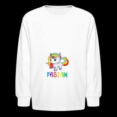 Fabian Unicorn - Kids' Long Sleeve T-Shirt