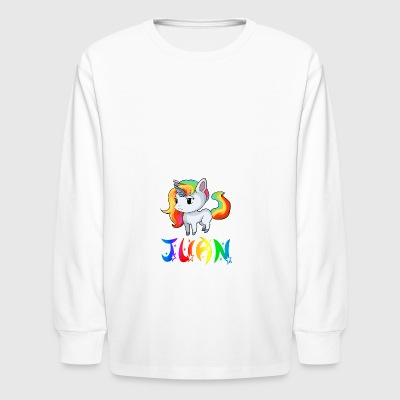 Juan Unicorn - Kids' Long Sleeve T-Shirt