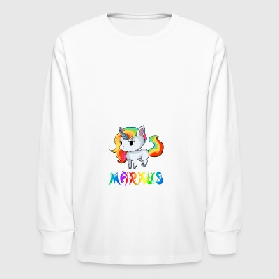 Markus Unicorn - Kids' Long Sleeve T-Shirt