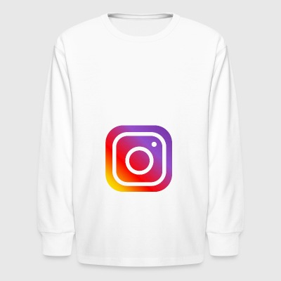 instagram logo - Kids' Long Sleeve T-Shirt