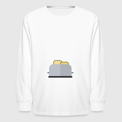 sandwich toast toaster breakfast fruehstueck34 - Kids' Long Sleeve T-Shirt