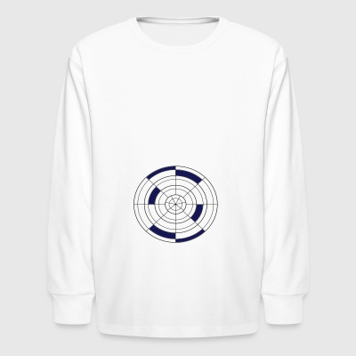 Polar Grid - Kids' Long Sleeve T-Shirt