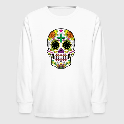 sugar_skull_with_cross - Kids' Long Sleeve T-Shirt