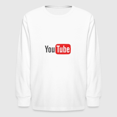 youtube logo - Kids' Long Sleeve T-Shirt