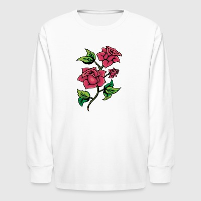 red_roses_with_thorns - Kids' Long Sleeve T-Shirt