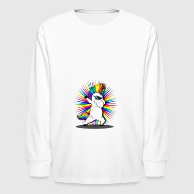 Dabbing Unicorn - Kids' Long Sleeve T-Shirt