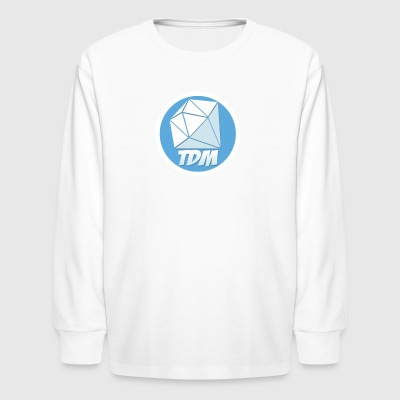 Dan TDM Logo Diamond - Kids' Long Sleeve T-Shirt