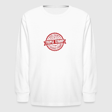 Triple Stamp - Kids' Long Sleeve T-Shirt