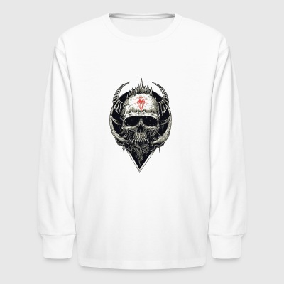 Devil Skull - Kids' Long Sleeve T-Shirt