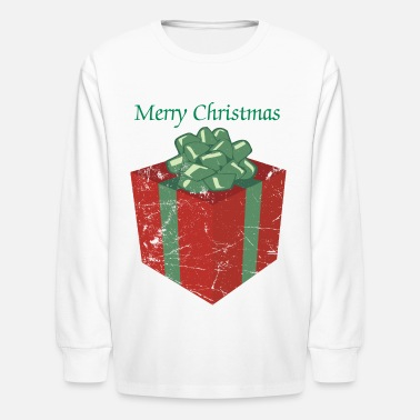 Christmas Present Vintage Christmas Present and Holiday Gift Package - Kids' Long Sleeve T-Shirt