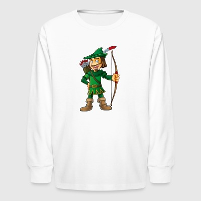 Robin Hood-arrows-bow-tale - Kids' Long Sleeve T-Shirt