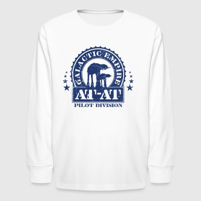 Galactic Empire AT-AT Pilot Division - Kids' Long Sleeve T-Shirt