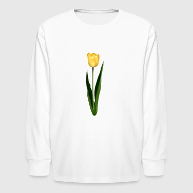 Yellow Tulip - Kids' Long Sleeve T-Shirt