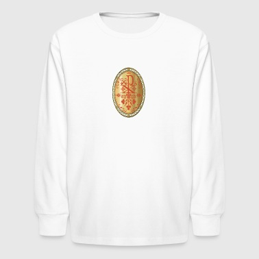 CHI-RHO GOLD MEDALLION - Kids' Long Sleeve T-Shirt