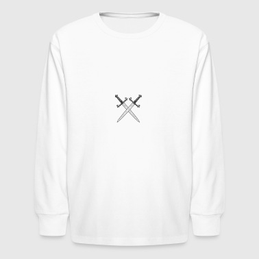 Crossed swords vector - Kids' Long Sleeve T-Shirt