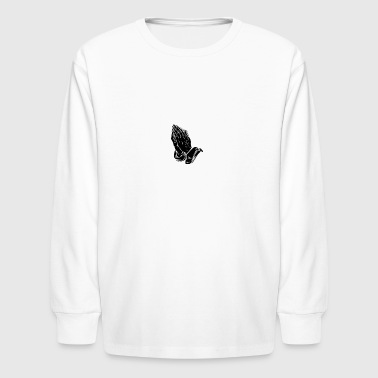 praying hands- Faith Thread - Kids' Long Sleeve T-Shirt