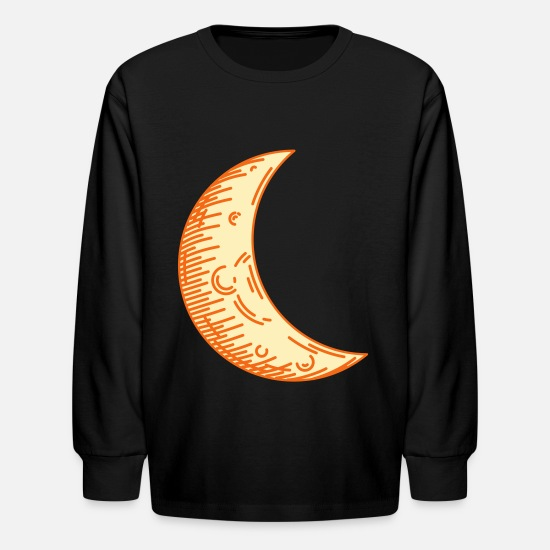 Think Long-Sleeve Shirts - Crescent moon - Kids' Longsleeve Shirt black