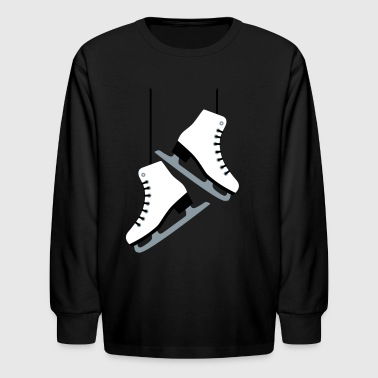 White Skates - Kids' Long Sleeve T-Shirt