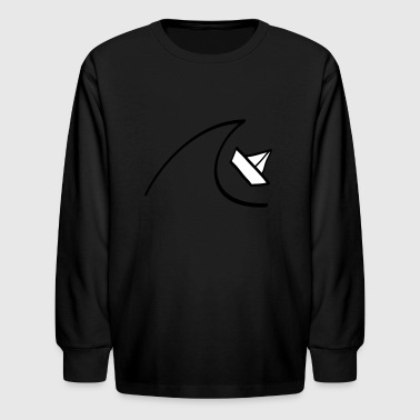 Boat in the Waves - Kids' Long Sleeve T-Shirt