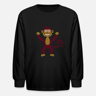 Drunken Monkey Monkey - Kids' Long Sleeve T-Shirt