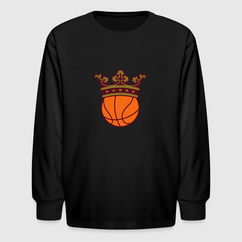 Basketball Crown - Kids' Long Sleeve T-Shirt
