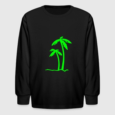 Beach Summer Sun Ocean Sea Holiday Palms - Kids' Long Sleeve T-Shirt